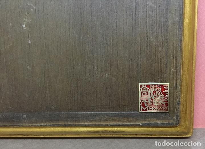 Antiquitäten: Precioso esmalte anunciación modest morato pieza única Sello de autenticidad - Foto 6 - 147341602