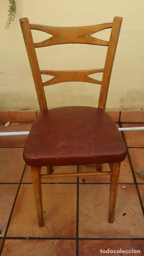 MOCHOLI ORIGINAL CON SELLO, ESTILLO CHIPENDALE (Antigüedades - Muebles Antiguos - Sillas Antiguas)