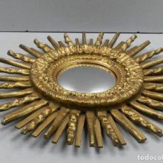 Antigüedades: ANTIGUO ESPEJO SOL EXCELENTE OBJETO DE DECORACION PAN DE ORO MUY BONITO. Lote 147362626