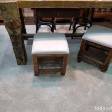 Antiquitäten - Muy antiguos taburetes de soldadores de bisuteria. 1904 año. Tapizados reciente. - 147369514
