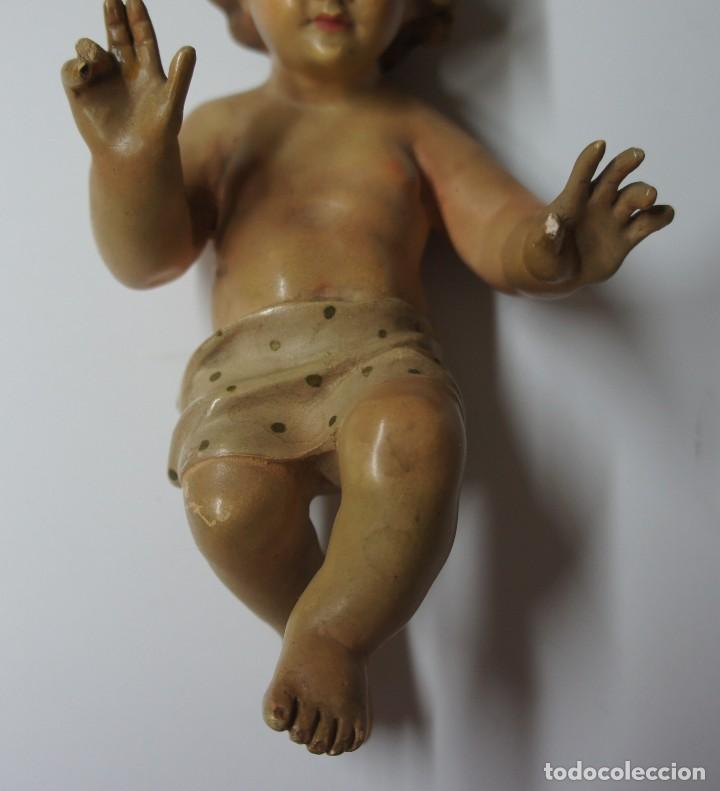 Antigüedades: NIÑO JESÚS CON LOS OJOS DE CRISTAL ,PARA REPARAR DEDOS MARCA OLDA . - Foto 3 - 147382366