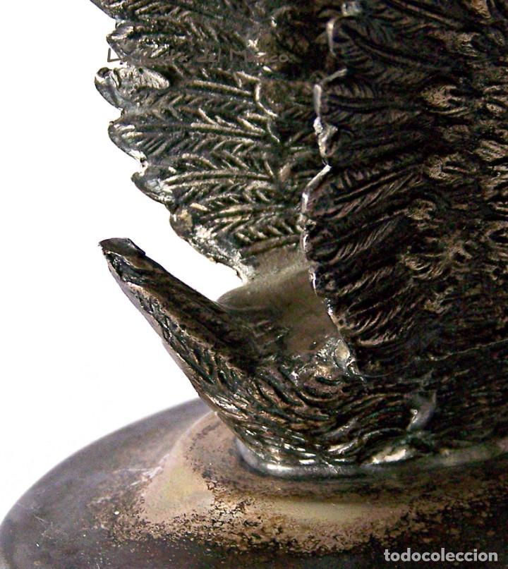 Antigüedades: Calienta copas de alpaca - Cisne - Cortasa Alpaca - Foto 5 - 147388502