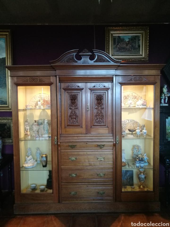 VITRINA CAOBA (Antigüedades - Muebles Antiguos - Vitrinas Antiguos)
