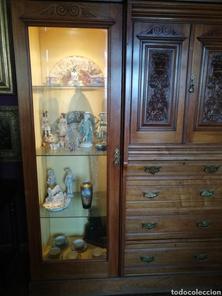 Antigüedades: Vitrina caoba - Foto 3 - 147392408