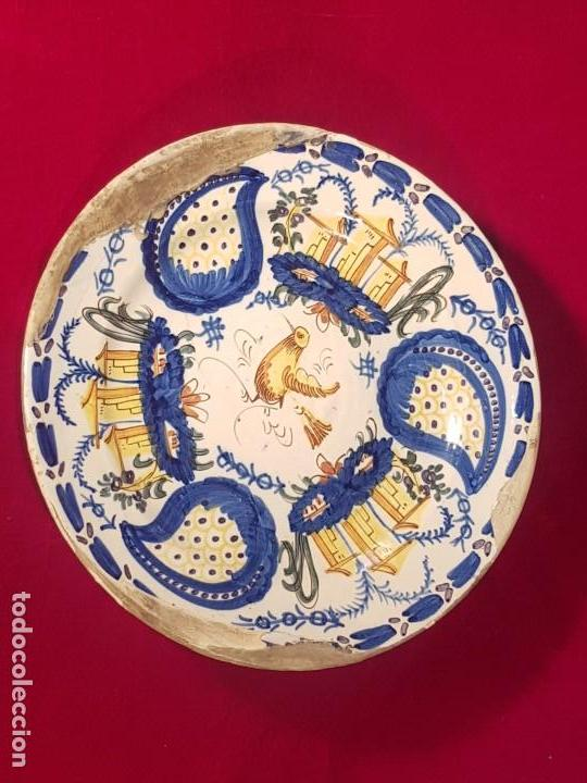 PLATO CERÁMICA MANISES SIGLO XIX (Antigüedades - Porcelanas y Cerámicas - Manises)