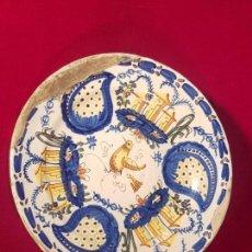 Antigüedades: PLATO CERÁMICA MANISES SIGLO XIX. Lote 144445398