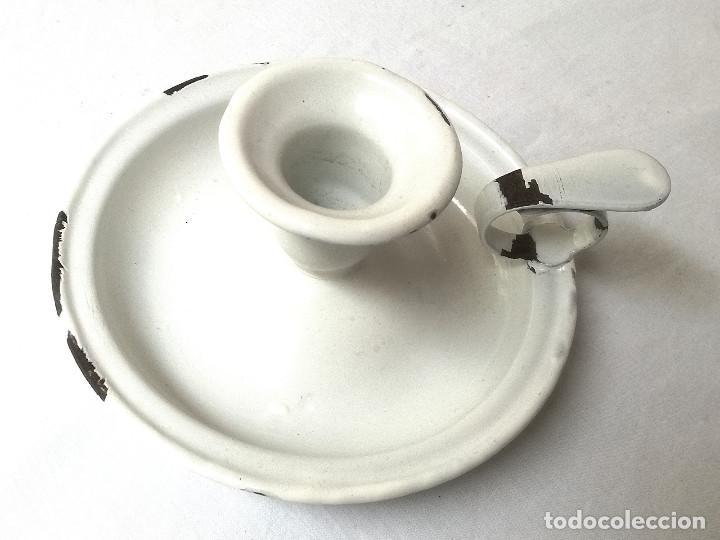 Antigüedades: Palmatoria de cerámica esmaltada - Foto 2 - 147424434