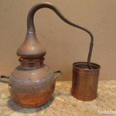 Antigüedades: ALAMBIQUE ANTIGUO EN COBRE. COMPLETO. PARA DOS LITROS. Lote 147428862