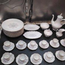 Antigüedades: JUEGO DE CAFÉ PORCELANA FINA MARCA LIS VIPOR ESPAÑA. Lote 147430438