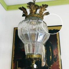 Antigüedades: LAMPARA ESTILO FAROL DE 1918. Lote 147438618