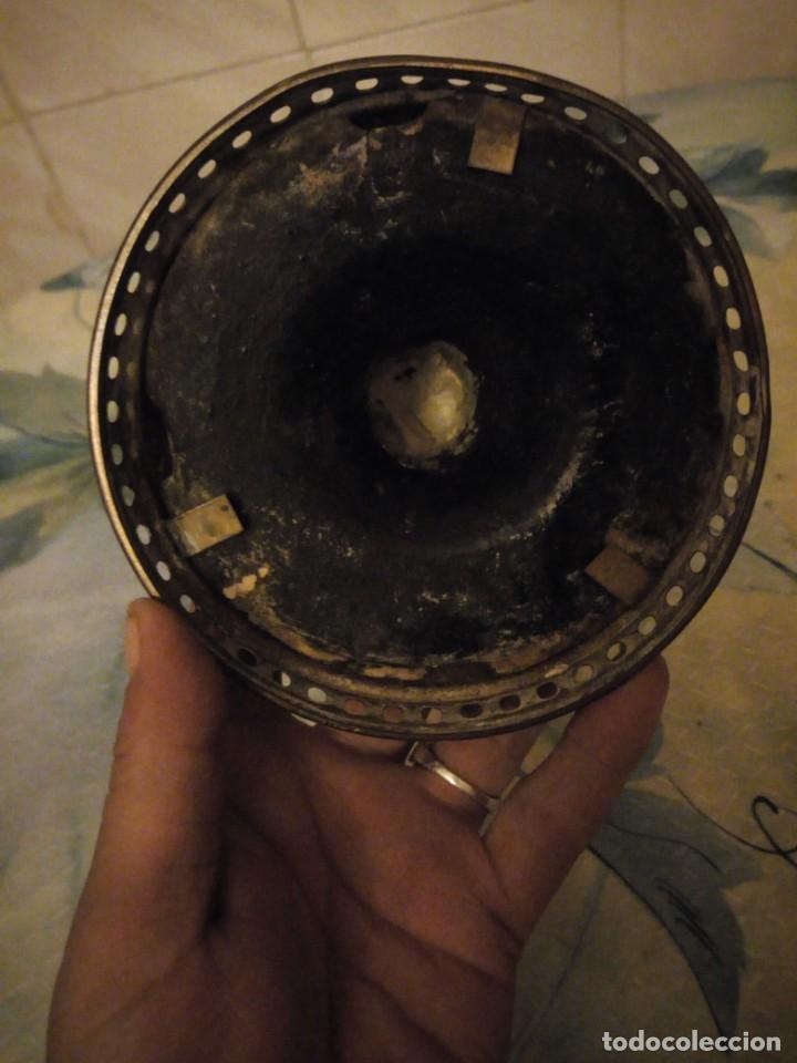 Antigüedades: Antigua copa de cerámica con latón pintada a mano. - Foto 6 - 147441070