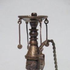 Antigüedades: ANTIGUA CACHIMBA EN MINIATURA DE PLATA. AÑOS 30-40. Lote 147461978