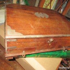 Antigüedades: CAJA DE MADERA CON CAJONERA 32 X 26 X 13 CMS. Lote 147462766