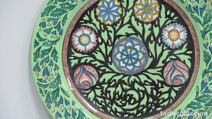 Antigüedades: ANTIGUO PLATO MODERNISTA DE CERAMICA DE ALCORA - Foto 2 - 147466210