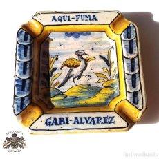 Antigüedades: ANTIGUO CENICERO DE TALAVERA. Lote 147474630