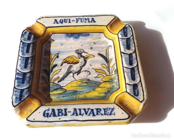 Antigüedades: ANTIGUO CENICERO DE TALAVERA - Foto 2 - 147474630