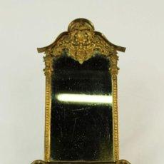 Antigüedades: ESPEJO DE TOCADOR VICTORIANO EN BRONCE LIGERO - 34X20X10CMS. Lote 147485706