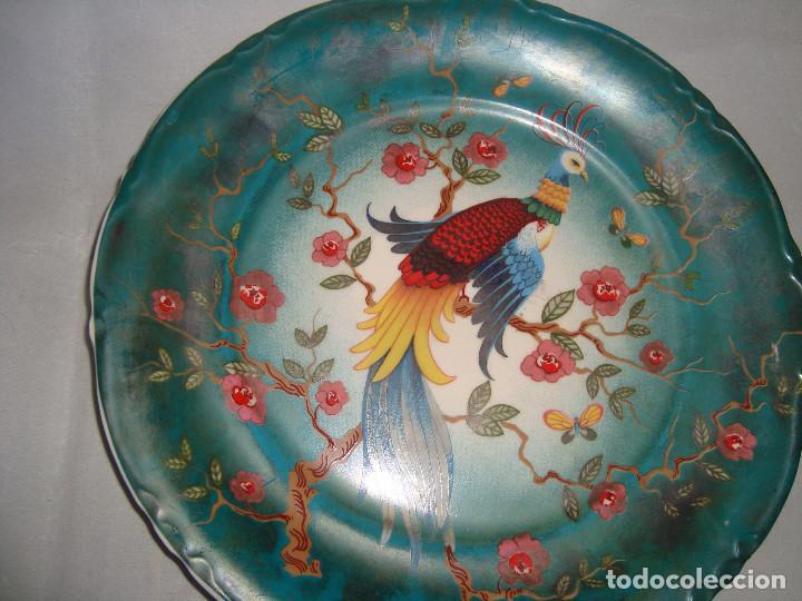 Antigüedades: ESPECTACULAR PAREJA DE PLATOS DE PORCELANA CHINA - Foto 2 - 147490770