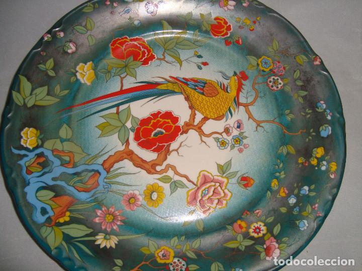 Antigüedades: ESPECTACULAR PAREJA DE PLATOS DE PORCELANA CHINA - Foto 3 - 147490770