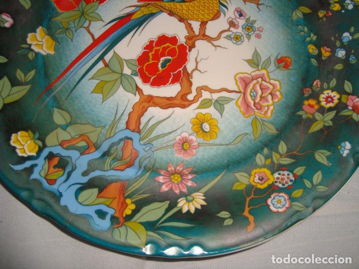 Antigüedades: ESPECTACULAR PAREJA DE PLATOS DE PORCELANA CHINA - Foto 8 - 147490770