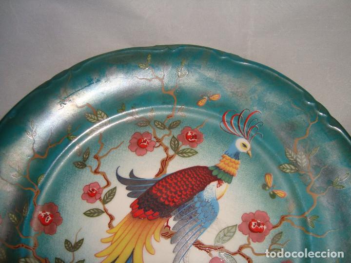 Antigüedades: ESPECTACULAR PAREJA DE PLATOS DE PORCELANA CHINA - Foto 10 - 147490770