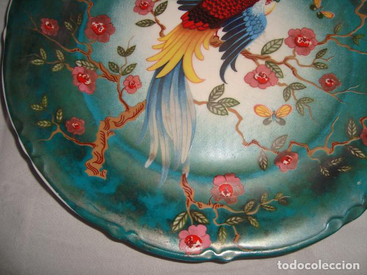 Antigüedades: ESPECTACULAR PAREJA DE PLATOS DE PORCELANA CHINA - Foto 11 - 147490770