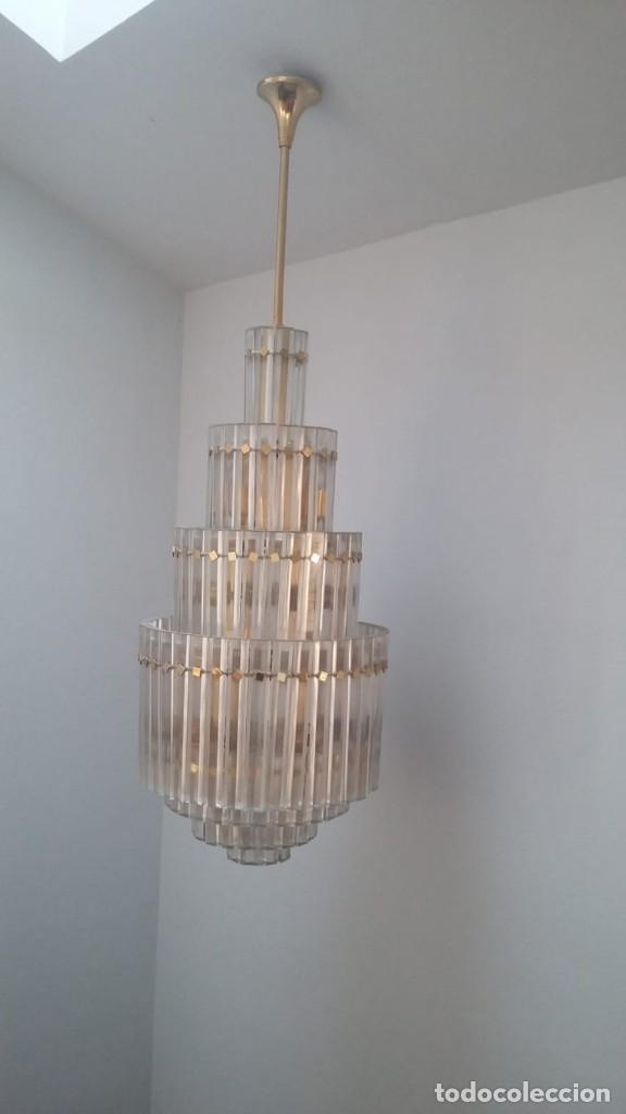 MAGNIFICA LAMPARA DE CRISTALES KINKELDEY GRAN TAMAÑO (Antigüedades - Iluminación - Lámparas Antiguas)