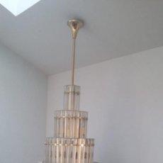 Antigüedades: MAGNIFICA LAMPARA DE CRISTALES KINKELDEY GRAN TAMAÑO. Lote 147497266