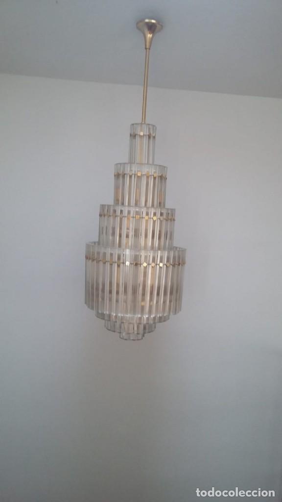 Antigüedades: MAGNIFICA LAMPARA DE CRISTALES KINKELDEY GRAN TAMAÑO - Foto 2 - 147497266