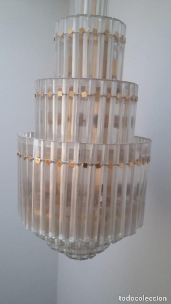 Antigüedades: MAGNIFICA LAMPARA DE CRISTALES KINKELDEY GRAN TAMAÑO - Foto 7 - 147497266