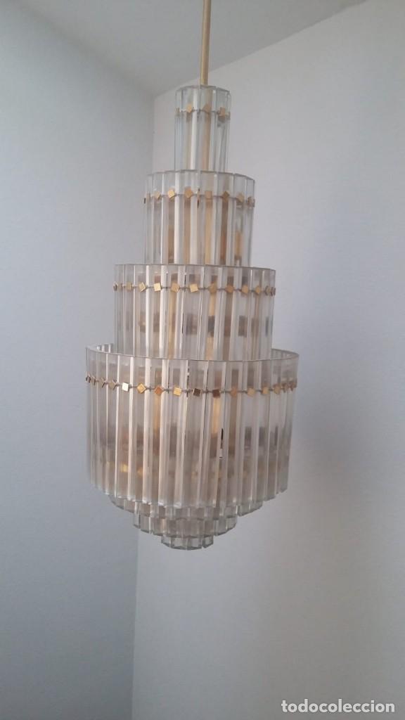 Antigüedades: MAGNIFICA LAMPARA DE CRISTALES KINKELDEY GRAN TAMAÑO - Foto 8 - 147497266