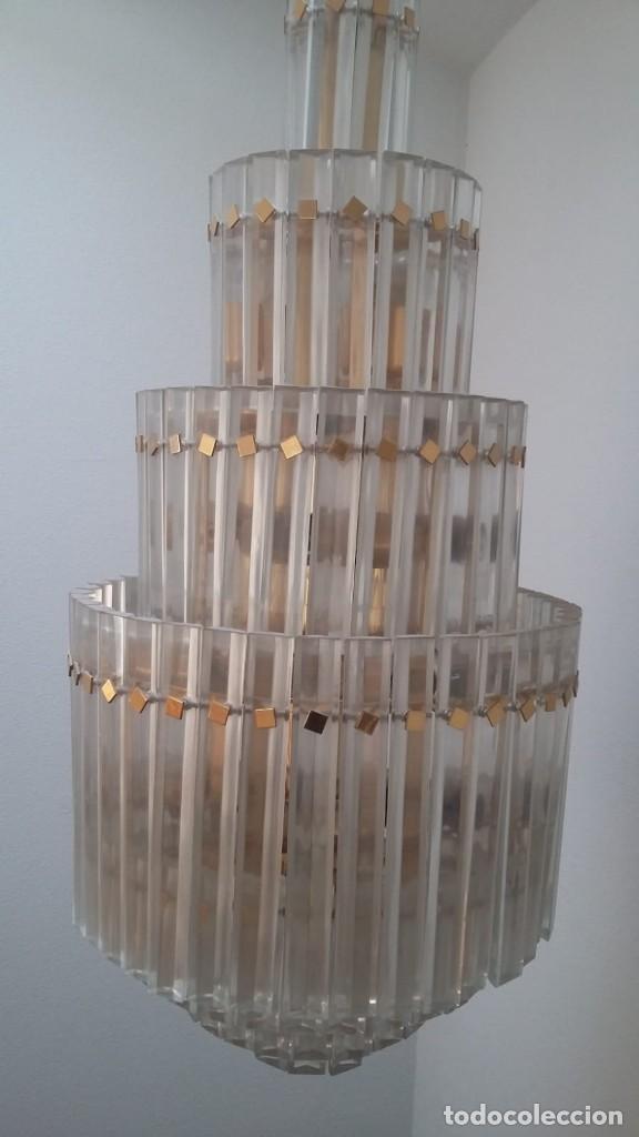 Antigüedades: MAGNIFICA LAMPARA DE CRISTALES KINKELDEY GRAN TAMAÑO - Foto 9 - 147497266