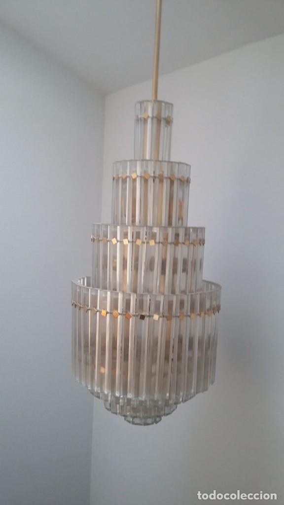 Antigüedades: MAGNIFICA LAMPARA DE CRISTALES KINKELDEY GRAN TAMAÑO - Foto 10 - 147497266