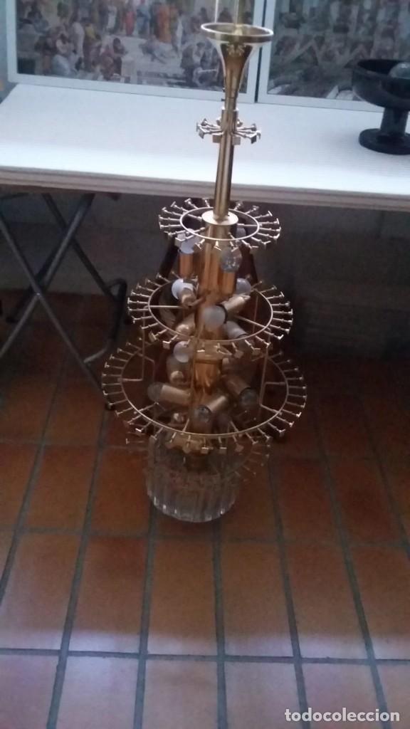 Antigüedades: MAGNIFICA LAMPARA DE CRISTALES KINKELDEY GRAN TAMAÑO - Foto 16 - 147497266
