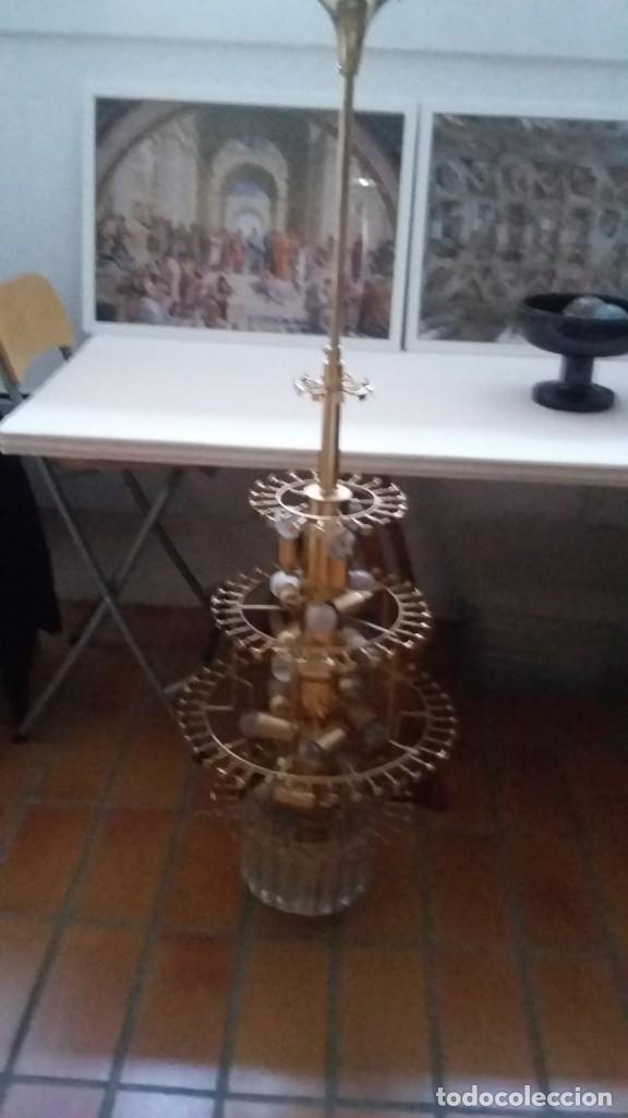 Antigüedades: MAGNIFICA LAMPARA DE CRISTALES KINKELDEY GRAN TAMAÑO - Foto 17 - 147497266