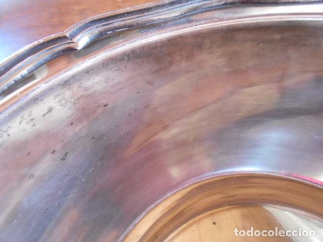 Antigüedades: PRECIOSA ENSALADERA O FUENTE DE LATÓN PLATEADO, FINAL S.XIX - Foto 11 - 147504354