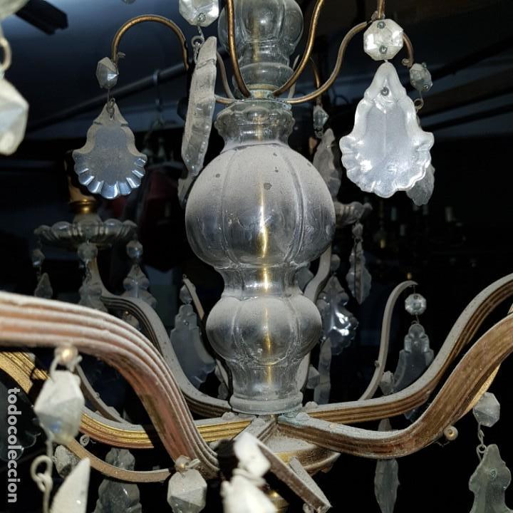 Antigüedades: Lampara cristal - Foto 9 - 147505690