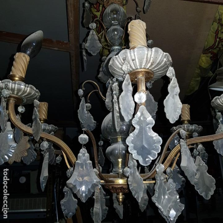 Antigüedades: Lampara cristal - Foto 10 - 147505690