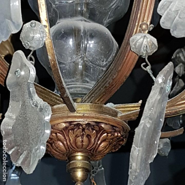 Antigüedades: Lampara cristal - Foto 13 - 147505690