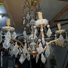 Antigüedades: LAMPARA CRISTAL. Lote 147505690