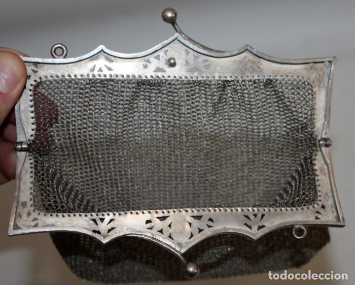 Antigüedades: BOLSO-MONEDERO DE PLATA-800-MODERNISTA-14,5 X 15 CM. - Foto 2 - 147511578