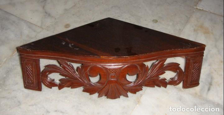 ESTANTERÍA O REPISA ESQUINERA. S.XIX. CAOBA. (Antigüedades - Muebles Antiguos - Repisas Antiguas)