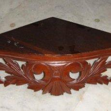 Antigüedades: ESTANTERÍA O REPISA ESQUINERA. S.XIX. CAOBA.. Lote 147521906