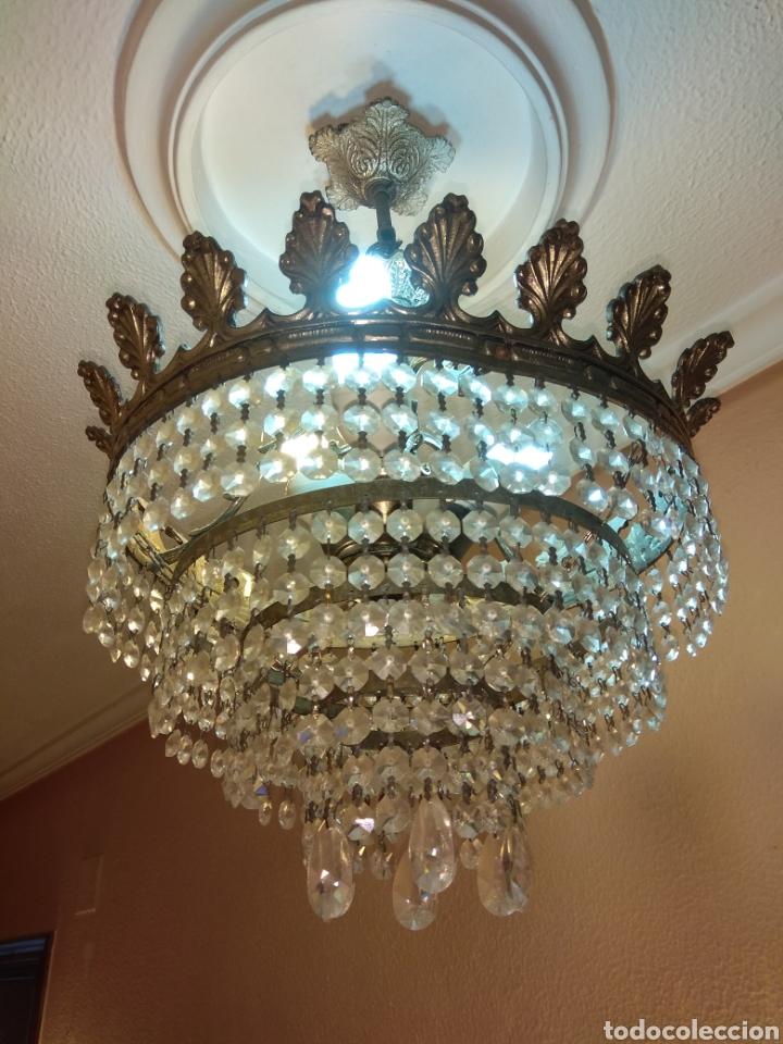 Antigüedades: Lámpara cristal roca - Foto 2 - 147525033