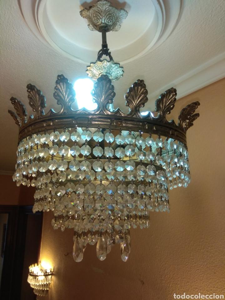 Antigüedades: Lámpara cristal roca - Foto 3 - 147525033
