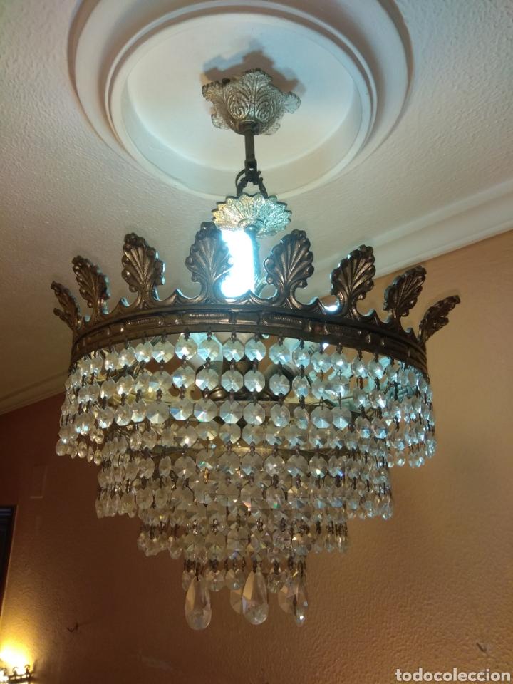 Antigüedades: Lámpara cristal roca - Foto 4 - 147525033