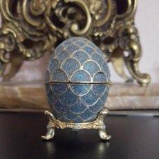 Antigüedades - Decoración Vintage Huevo Lacado Caja Joyero Pieza de Colección - 147536718
