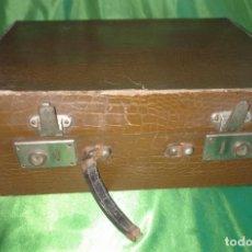 Antigüedades: MALETA ANTIGUA CON BANDEJA - VER FOTOS. Lote 147544230
