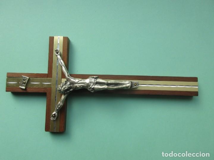 Antigüedades: Crucifijo de finales del siglo XIX - Foto 2 - 147563194