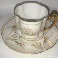 Antigüedades: ANTIGUA TAZA DE CAFÉ ORIGINAL DE LA ÉPOCA MODERNISTA P.P.S XX 1910. Lote 147569914